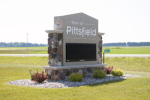 town of Pittsfield digital message board