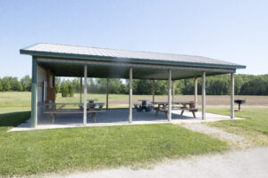 community park open air shelter